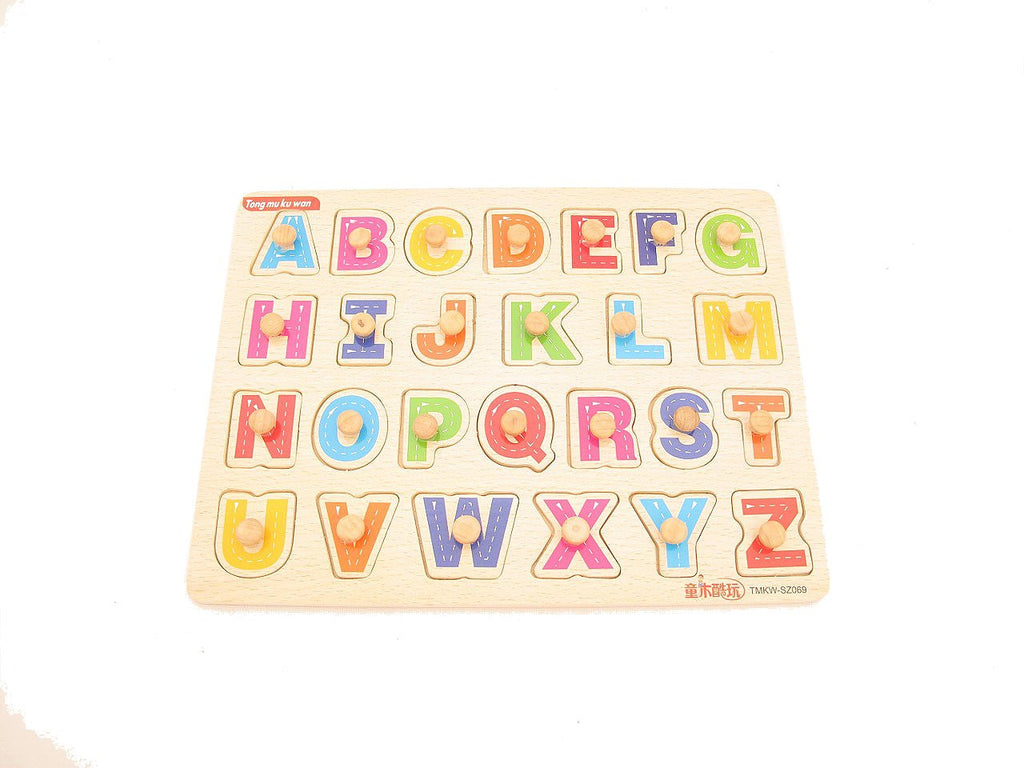 Alphabet Peg Board