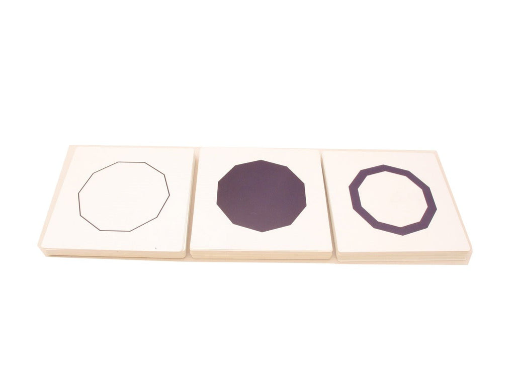 PinkMontesori Cards For Geometric Cabinet - Pink Montessori Montessori Material for sale @ pinkmontessori.com