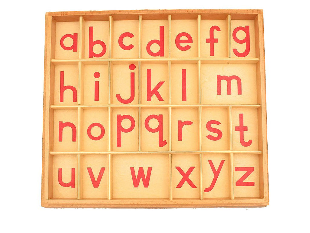 PinkMontesori Box for Lowercase Small Movable Alphabets (Box Only) - Pink Montessori Montessori Material for sale @ pinkmontessori.com - 1