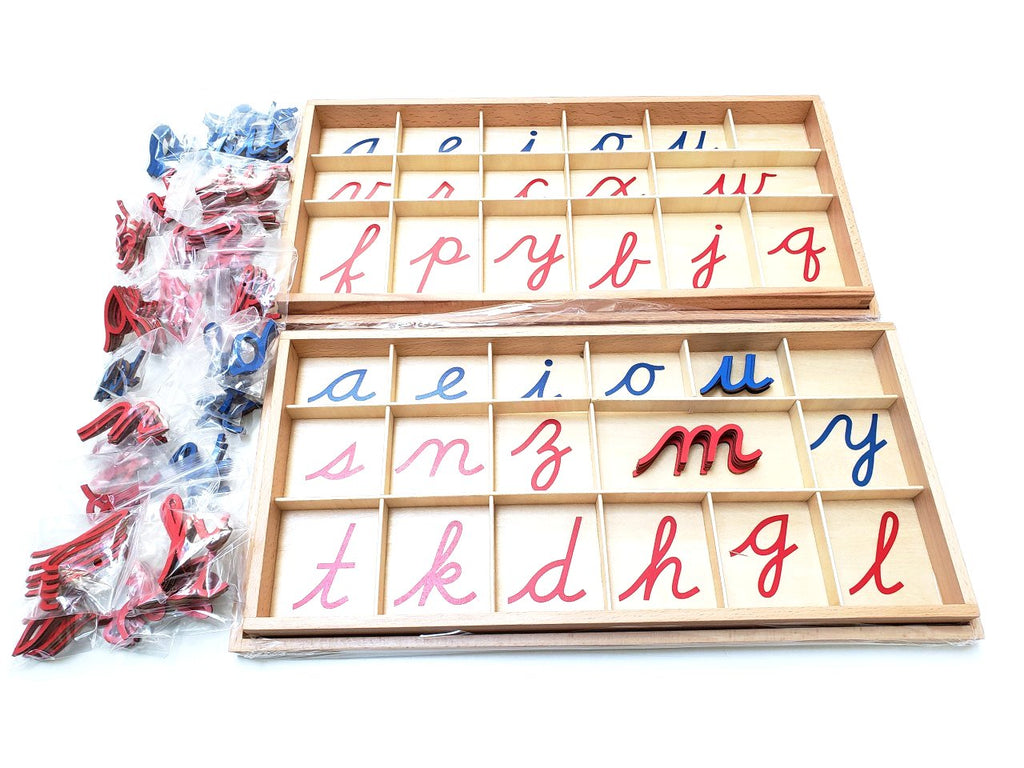Small Movable Alphabets (Cursive) with Box