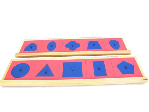 PinkMontesori Metal Insets with 2 Stands - Pink Montessori Montessori Material for sale @ pinkmontessori.com - 1