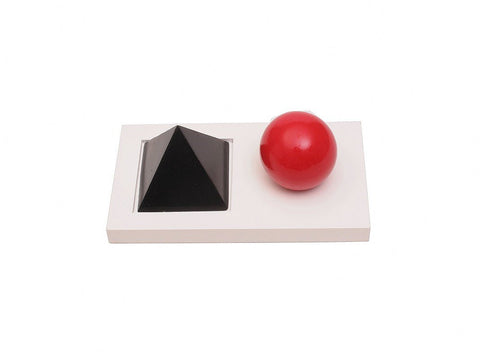 PinkMontesori Noun & Verb Introduction Solids with Tray - Pink Montessori Montessori Material for sale @ pinkmontessori.com