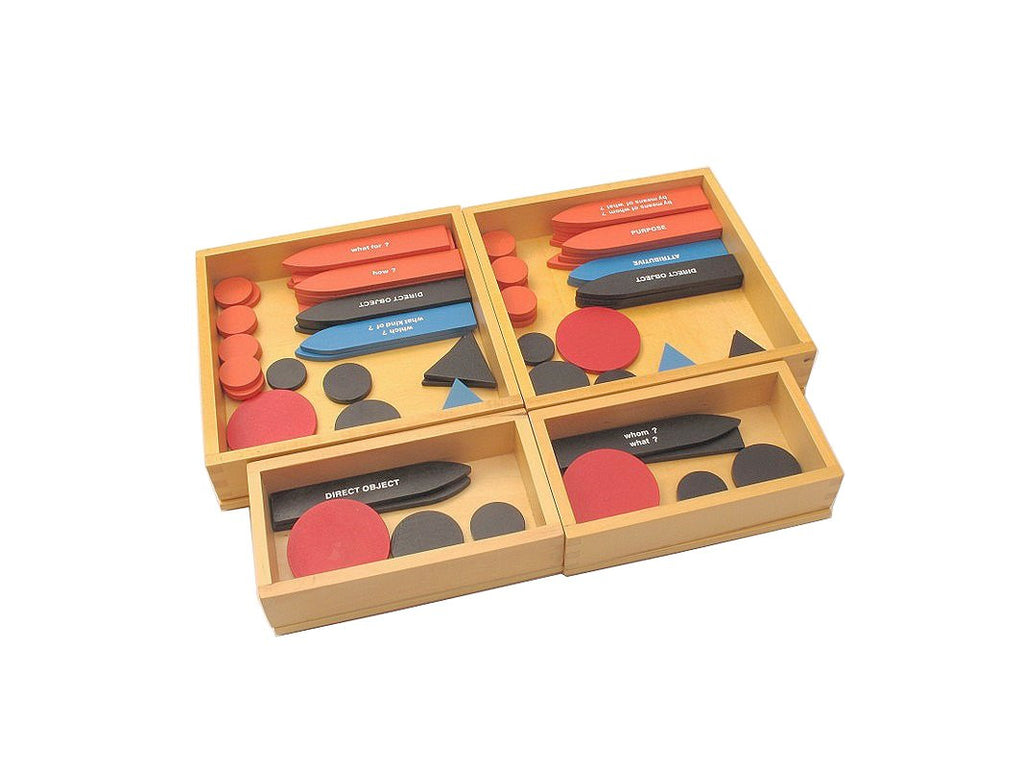 PinkMontesori Sentence Analysis 1st & 2nd Set - Pink Montessori Montessori Material for sale @ pinkmontessori.com - 1