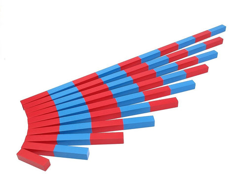 PinkMontesori Numerical Rods - Pink Montessori Montessori Material for sale @ pinkmontessori.com - 1
