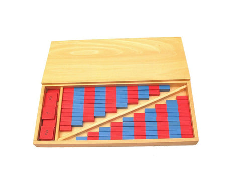 PinkMontesori Small Numerical Rods with Number Tiles - Pink Montessori Montessori Material for sale @ pinkmontessori.com - 1