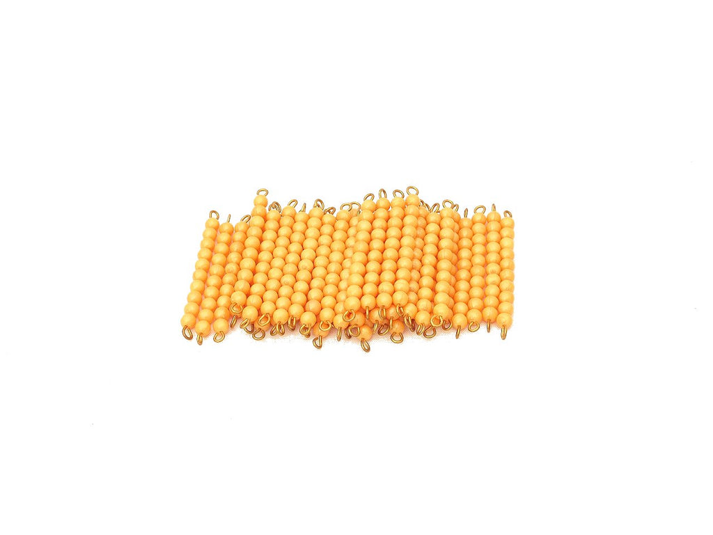 45 Golden Bead Bars of Ten