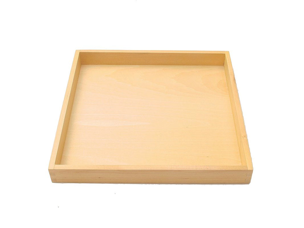 PinkMontesori Tray for 9 Wooden Thousand Cubes - Pink Montessori Montessori Material for sale @ pinkmontessori.com