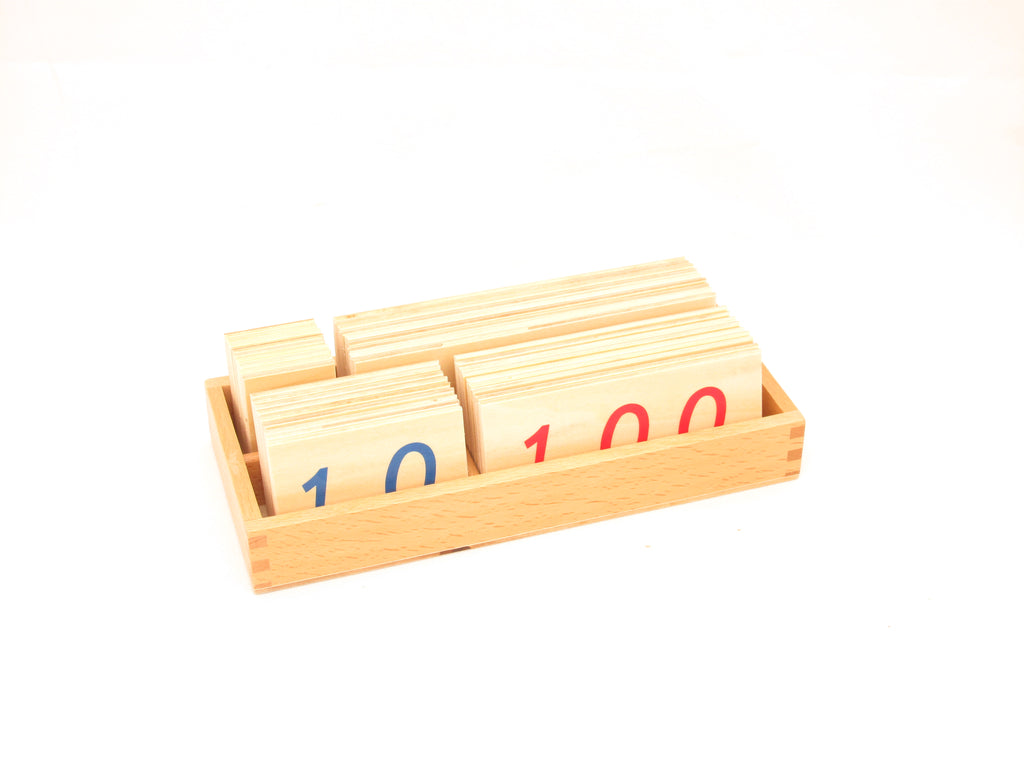 Small Wooden Number Cards 1-9000