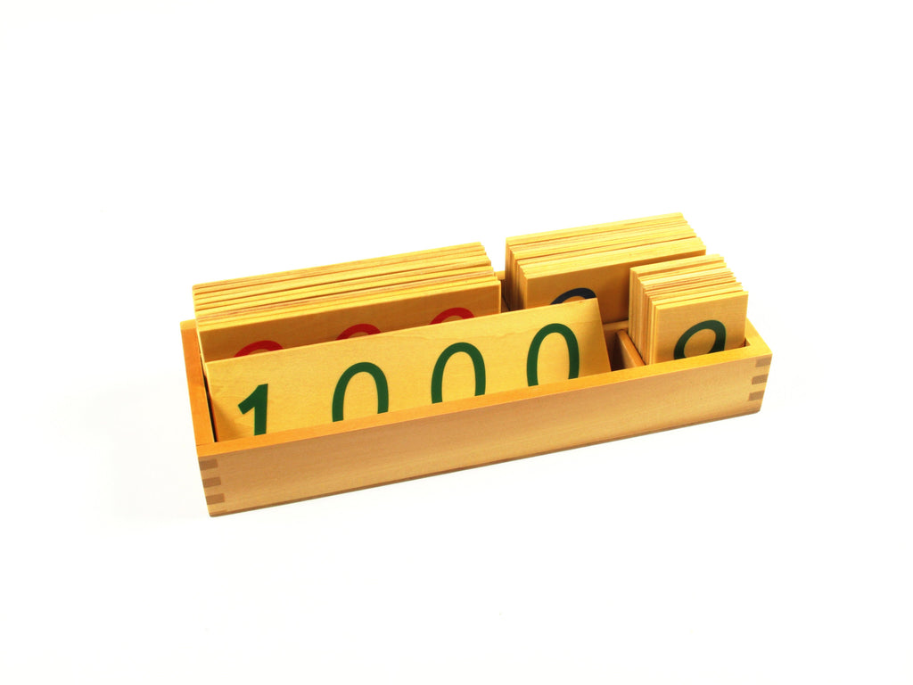 PinkMontesori Large Wooden Number Cards 1-1000 - Pink Montessori Montessori Material for sale @ pinkmontessori.com - 1
