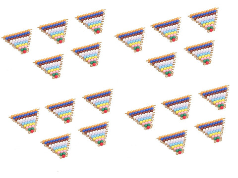 20 Sets of Colored Bead Stairs 1-10