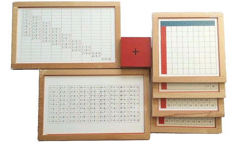 PinkMontesori Premium Addition Working Charts - Pink Montessori Montessori Material for sale @ pinkmontessori.com