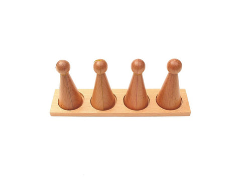 PinkMontesori Large Wooden Fraction Skittles with Stand - Pink Montessori Montessori Material for sale @ pinkmontessori.com - 1