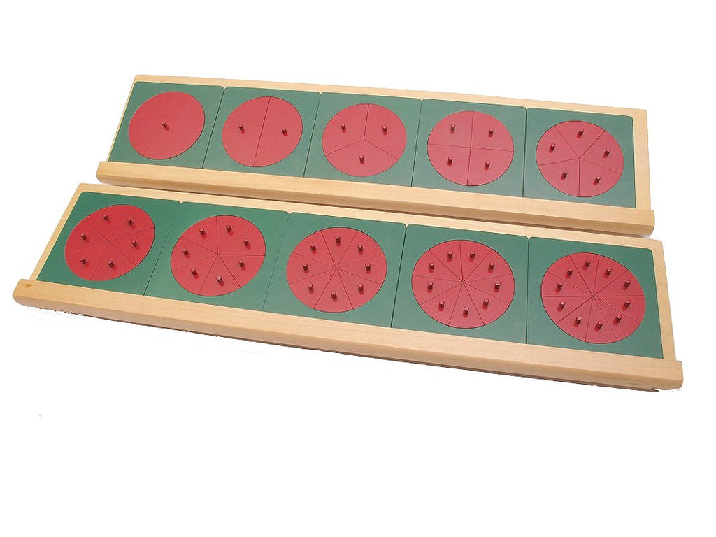 PinkMontesori Metal Fraction Circles with Stands - Pink Montessori Montessori Material for sale @ pinkmontessori.com - 1