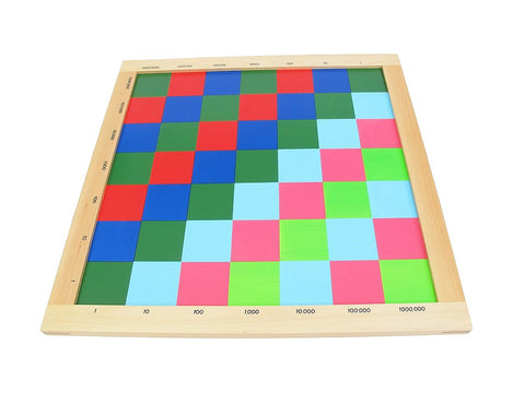 PinkMontesori Square Checker Board - Pink Montessori Montessori Material for sale @ pinkmontessori.com