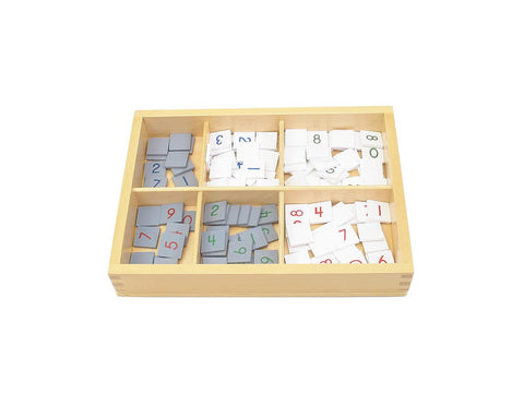 PinkMontesori Number Tiles for Checker Board - Pink Montessori Montessori Material for sale @ pinkmontessori.com - 1