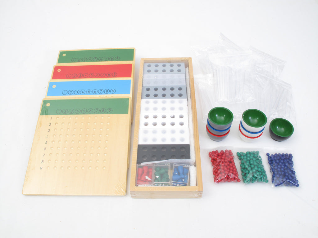 PinkMontesori Long Division - Division of Racks and Tubes - Pink Montessori Montessori Material for sale @ pinkmontessori.com