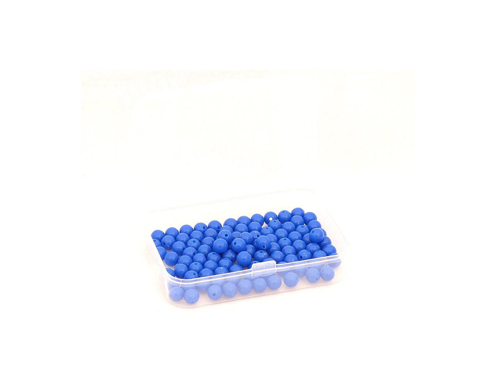 100 Blue Beads in Box
