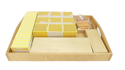 PinkMontesori Decimal System Combination Tray - Bead Materials with Number Cards - Pink Montessori Montessori Material for sale @ pinkmontessori.com - 1