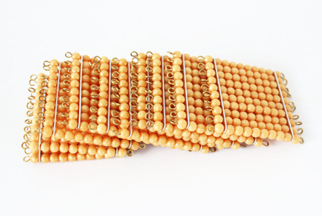 9 Golden Bead Hundred Squares