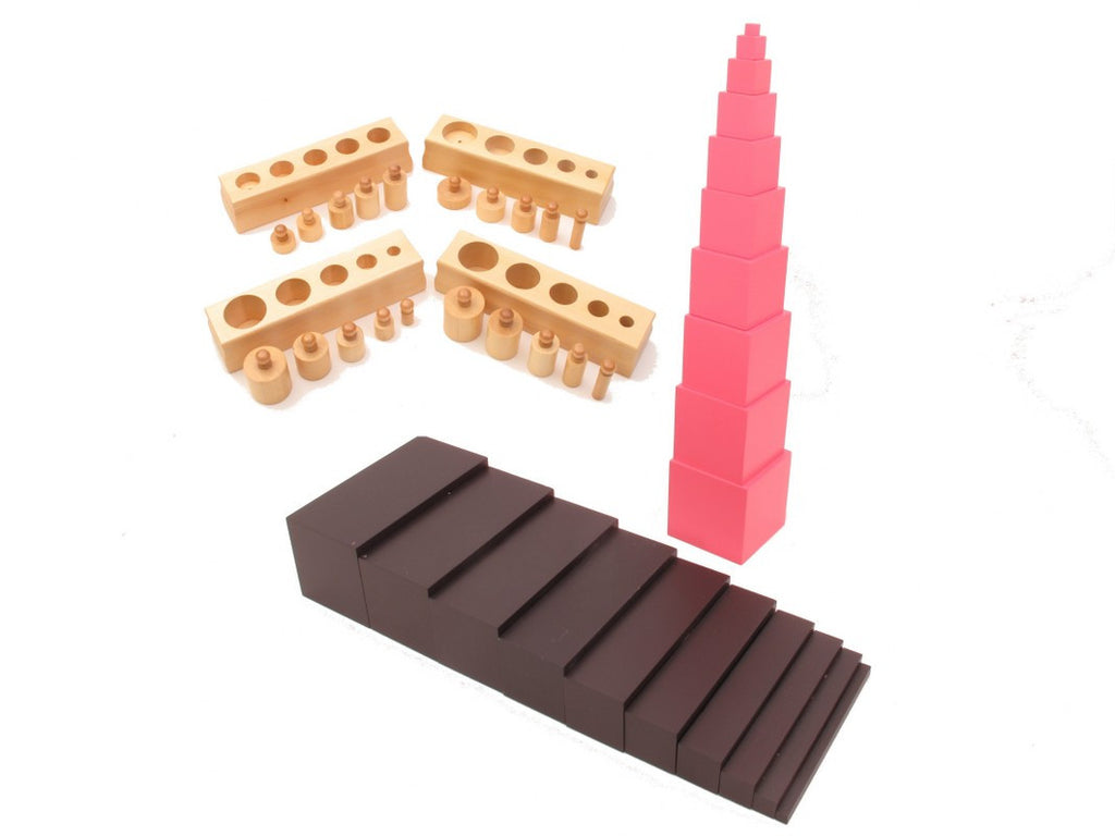 PinkMontesori Sensorial Package 1 - Family Set - Pink Montessori Montessori Material for sale @ pinkmontessori.com