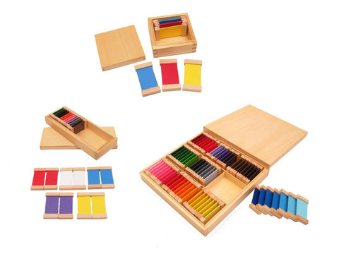 PinkMontesori Sensorial Package 2 - Color Tablets I II & III - Pink Montessori Montessori Material for sale @ pinkmontessori.com
