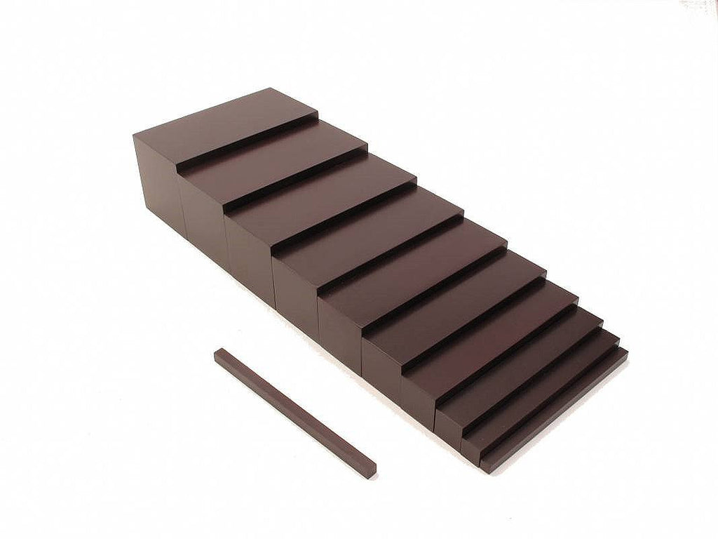 PinkMontesori Brown Stairs - Pink Montessori Montessori Material for sale @ pinkmontessori.com - 1