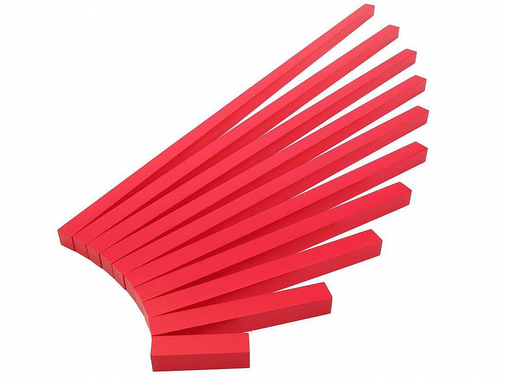 PinkMontesori Long Red Rods - Pink Montessori Montessori Material for sale @ pinkmontessori.com - 1