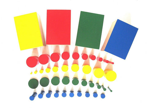 PinkMontesori Knobless Cylinders (Set of 4) - Pink Montessori Montessori Material for sale @ pinkmontessori.com - 1