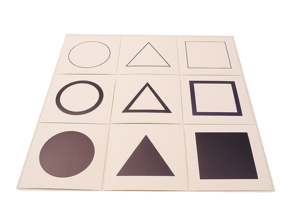 PinkMontesori Cards For Geometric Demonstration Tray - Pink Montessori Montessori Material for sale @ pinkmontessori.com