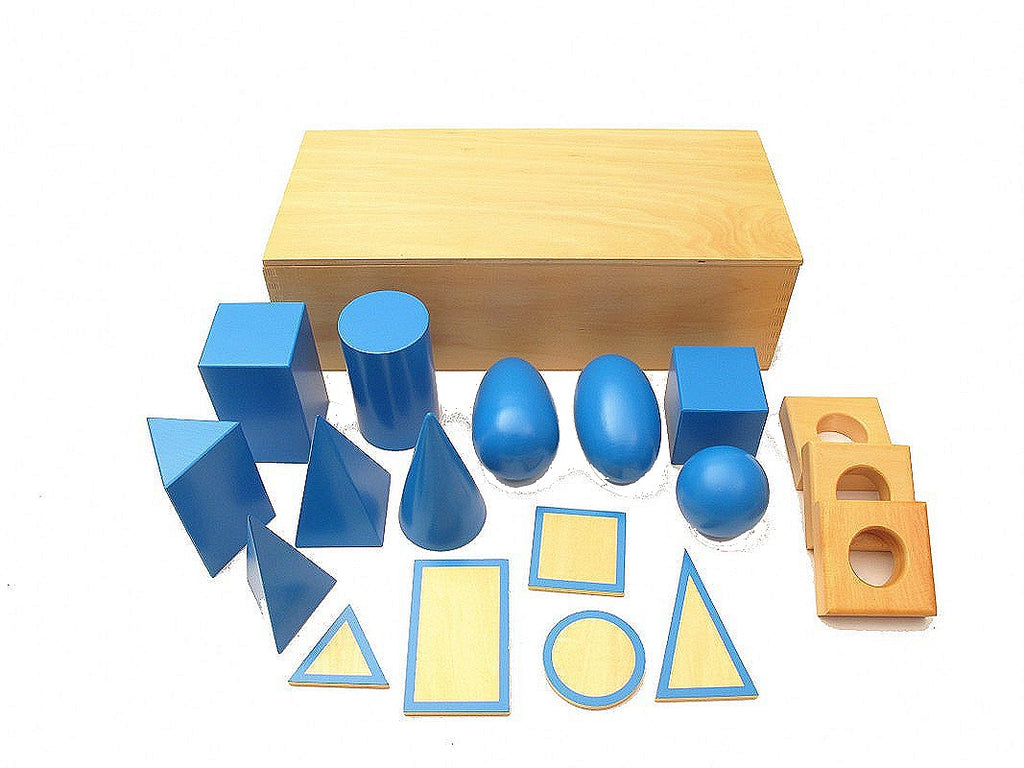 Blue Geometric Solids with Box Set