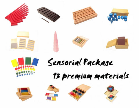 Premium Classroom Sensorial  Package 1 - (13  Montessori materials)