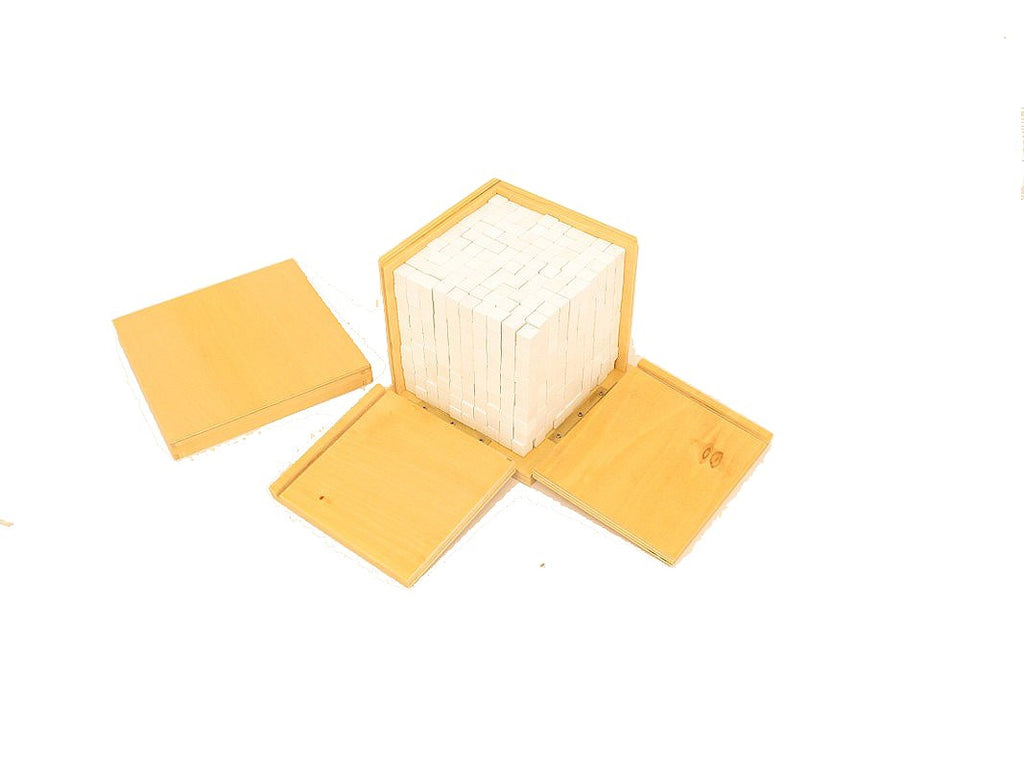 PinkMontesori Volume Box With 1000 Cubes - Pink Montessori Montessori Material for sale @ pinkmontessori.com