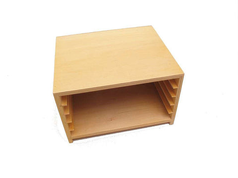 PinkMontesori Cabinet for 5 Zoology Puzzles - Pink Montessori Montessori Material for sale @ pinkmontessori.com