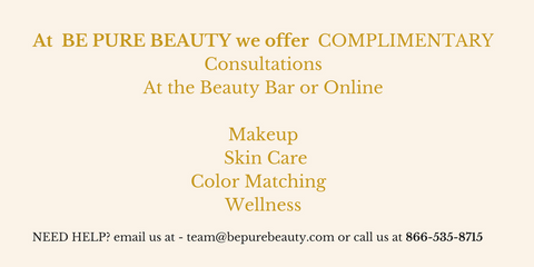 we offer makeup and skin consultations in store and online