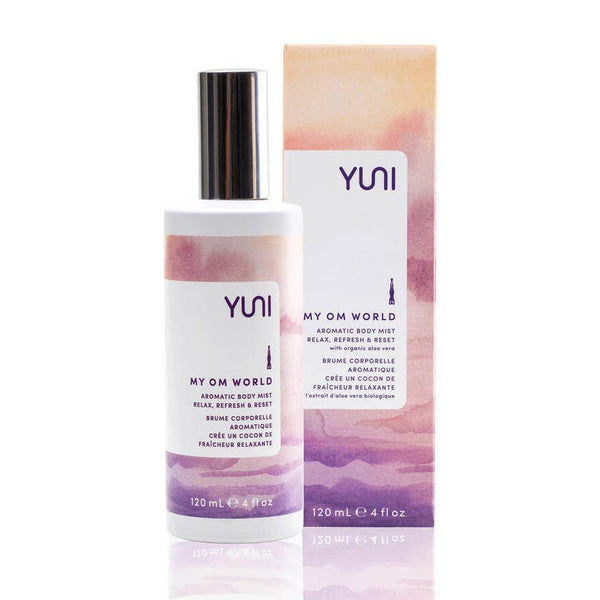 YUNI Beauty - MY OM WORLD Aromatic Body Mist - shop now at be pure