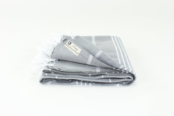 TURKISH LINEN & TOWELS, LLC - Premium Turkish Classic Striped Peshtemal Towel - shop now at be pure