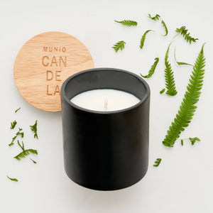 the MUNIO - Fern Candle in Black Ceramic Votive - shop now at be pure