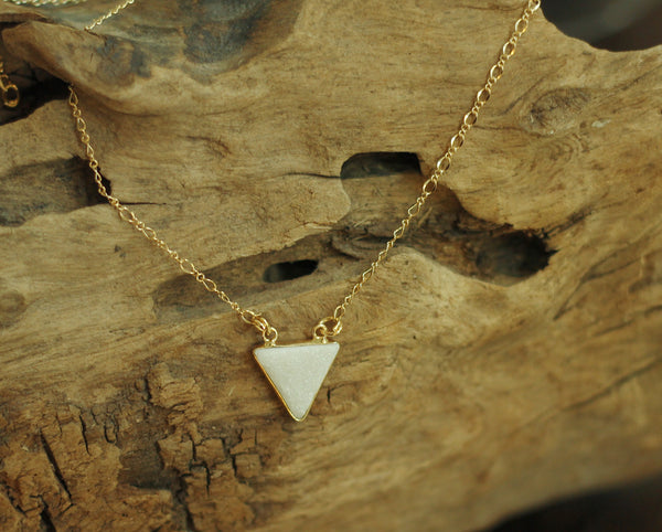 Triangle Drop Necklace - be pure beauty