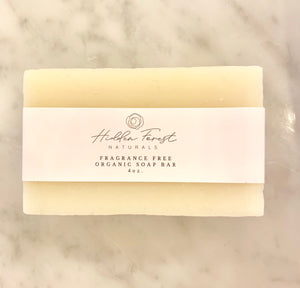 Organic Bar Soap - Fragrance Free - be pure beauty