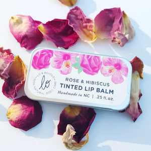 Rose & Hibiscus Tinted Lip Balm - be pure beauty