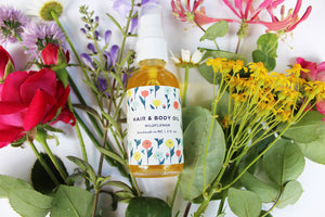 Wildflower Hair and Body Oil - be pure beauty