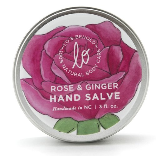 Rose & Ginger Hand Salve - shop now at be pure