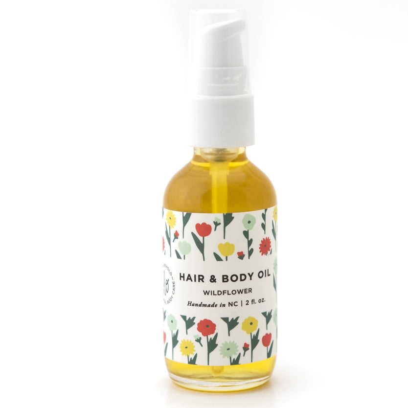 Wildflower Hair and Body Oil - shop now at be pure