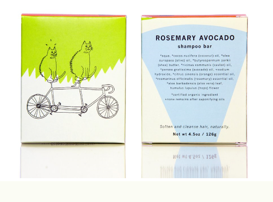 Rosemary Avocado Shampoo Bar - be pure beauty