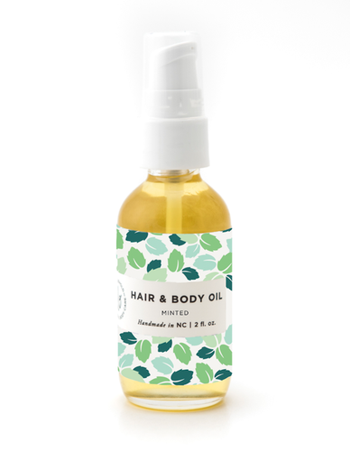 Minted Hair & Body Oil - be pure beauty