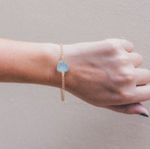 Light Aqua Triangle Pixie Bracelet - shop now at be pure