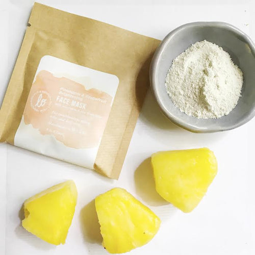 Pineapple & Grapefruit Brightening Face Mask - be pure beauty