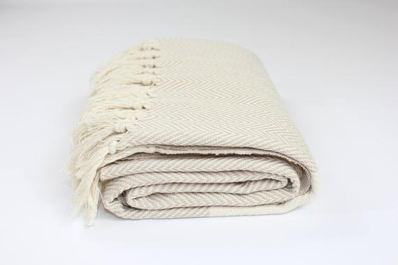 TURKISH LINEN & TOWELS, LLC - Premium Turkish Herringbone Pattern Towel - shop now at be pure
