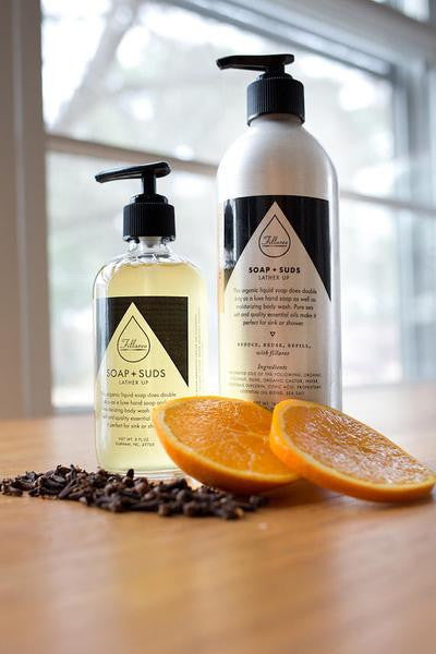 Soap + Suds Hand/Body Wash 16 oz. - shop now at be pure