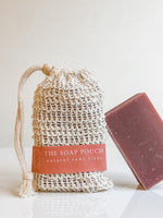 Natural Rami Soap Pouch of the Hidden Forest